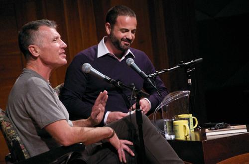 Michael Cunningham with Tony Valenzuela