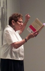 Jones reading from her memoir