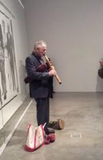 David Amram plays a Native American flute