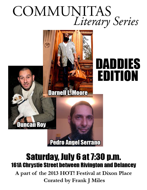 Communitas: Daddies Edition – with Duncan Roy, Darnell L. Moore, and Pedro Angel Serrano.