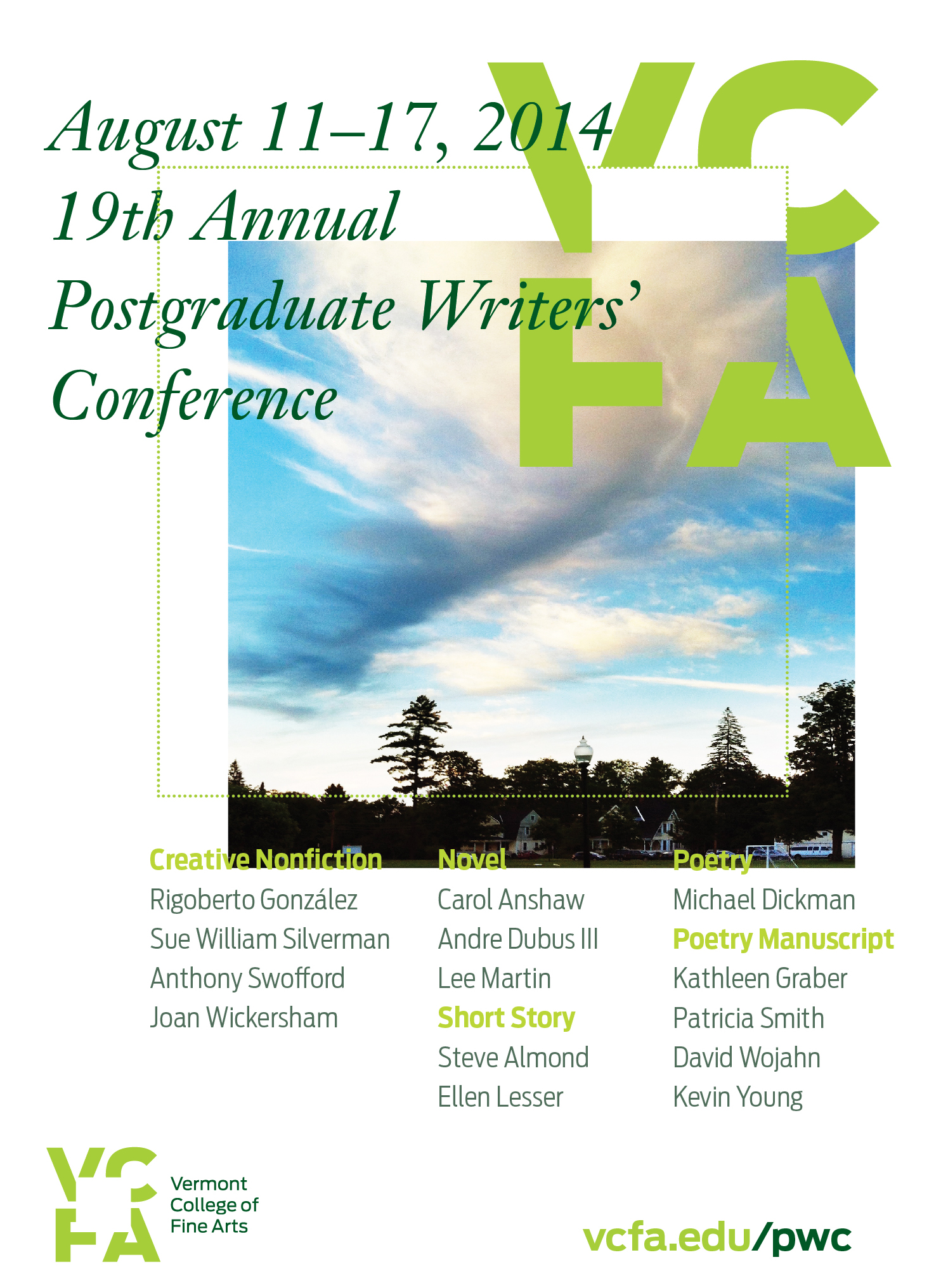 Carol Anshaw and Rigoberto Gonzalez at 2014 Postgraduate Writers' Conference