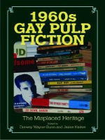 '1960s Gay Pulp Fiction: The Misplaced Heritage' Edited by Drewey Wayne Gunn and Jamie Harker