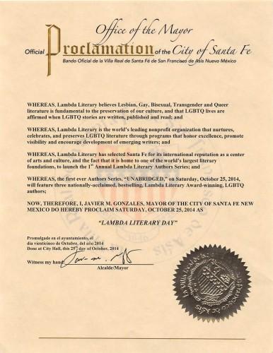 Santa_Fe_Lambda_Lit_Proclamation