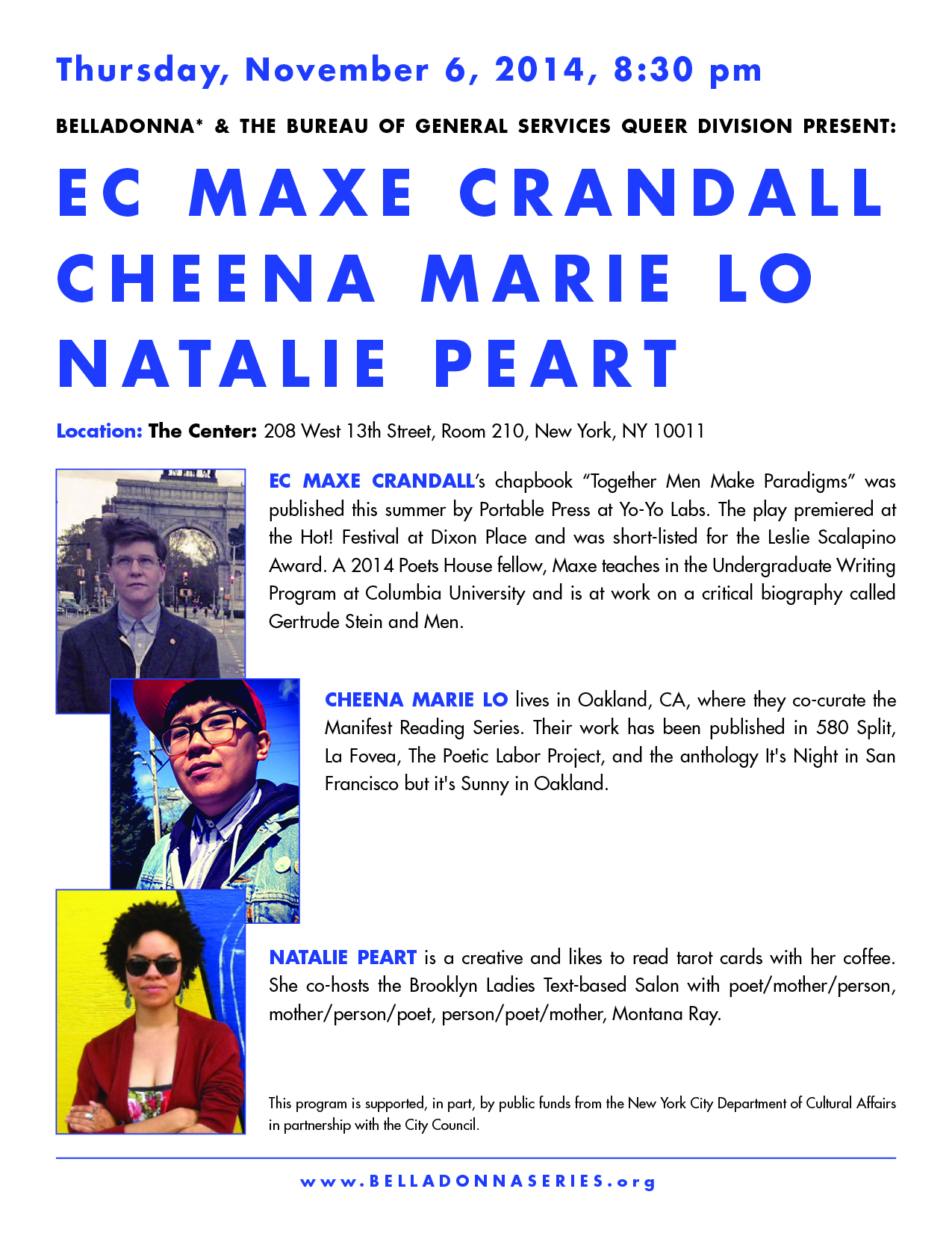 Chaplet Series: EC Maxe Crandall, Cheena Marie Lo, and Natalie Peart