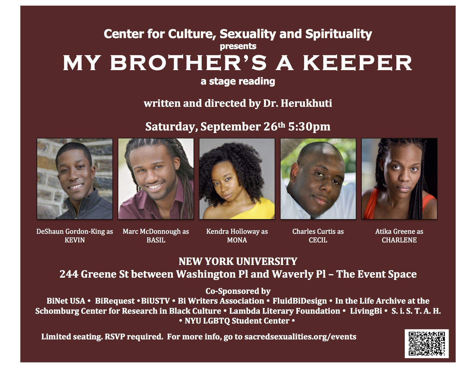 'My Brother's a Keeper': A Stage Reading