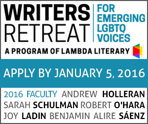 2016 Lambda Literary Emerging Writers Retreat for LGBT Voices