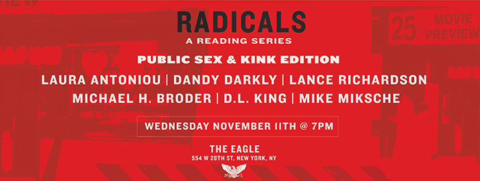 Radicals Reading | Public Sex and Kink Edition NYC