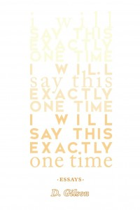 Reflections on D. Gilson's 'I Will Say This Exactly One Time' image