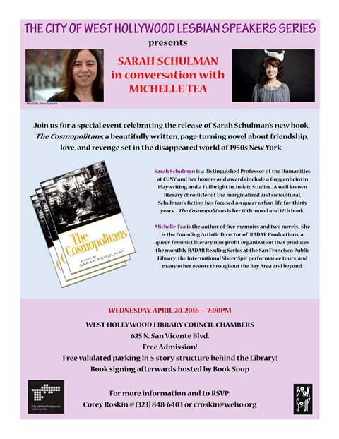 Sarah Schulman in conversation with Michelle Tea (web version)