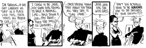 Strip from Jane's World by Paige Braddock