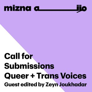 Call for Submissions: Queer + Trans Voices image