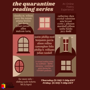 The Quarantine Reading Series Featuring Phillip B. Williams & Justin Phillip Reed image