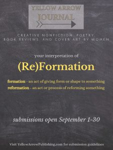 Yellow Arrow Publishing is Seeking Essays on the Theme of (Re)Formation image