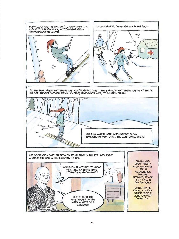 Excerpt of Alison Bechdel's The Secret to Superhuman Strength